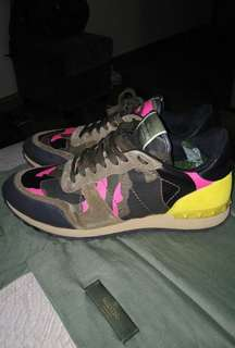 Valentino Green Pink Camo sneaker  US 10