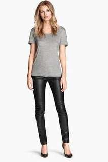 H&M Super Low Waist Leather Pants