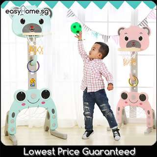 🚚 4 in 1 Basketball Stand - Football Soccer, Hoop, Music Function, Adjustable Height #CarouPay