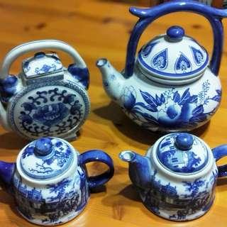 PorcelainTeapot  - All 4pcs at $30!