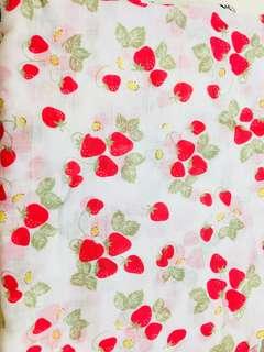🚚 草莓紗布包巾