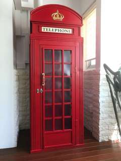 🚚 1.8 Metre Tall UK ROYAL TELEPHONE BOOTH (BRAND NEW) and Door Handle
