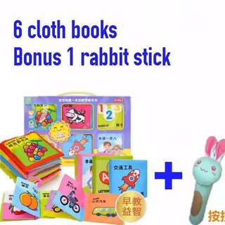 6 in 1 cloth book