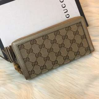 Gucci Canvas Leather Long Wallet