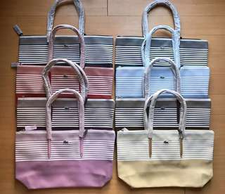 LAC0STE large zip tote TAKE ALL at 5,9OO php