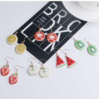 0629日系甜美可愛水果片耳環飾品