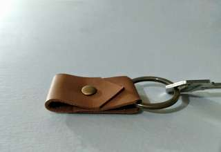 Genuine leather key fob key holder