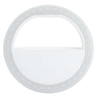 Selfie Spotlight LED Flash Lamp Phone Ring - White