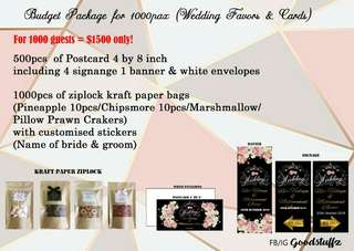 Wedding card and Favors package