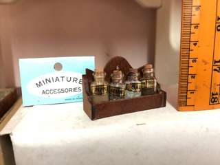 Miniature spice rack for miniature furniture and doll house