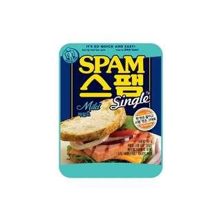 CJ即食獨立包裝減鹽spam午餐肉80g