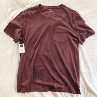 🚚 GAP - 圓領口袋仿舊短袖T恤 M