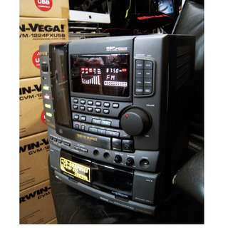 HARD TO FIND- VINTAGE RARE 90'S SHOWROOM DISPLAY AIWA JUKEBOX STYLE 50 CD CHANGER KARAOKE MIDI WITH 9-Step KEY CONTROL & DUAL CASSETTE PLAYER (CD TRAY CAN'T OPEN  NEED REPAIRS) COST OVER $1,000 WAREHOUSE CLEARANCE $90 MADE IN JAPAN