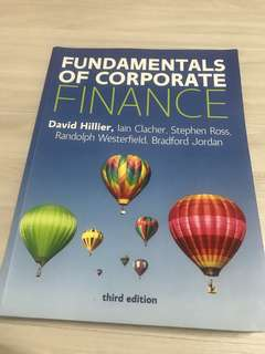 Fundamentals Of Corporate Finance David Hillier McGraw Hill 3rd European Edition