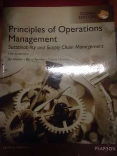 Principles of operations management by Pearson (10th edition)