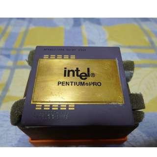 Intel Pentium Pro CPU ( vintage rare collector item + gold scrap value )