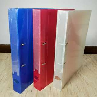 Ring File (Dark Blue & Red & White)
