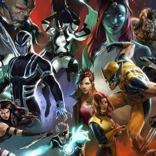 "Marvel Comics X-Men Oversized Poster by Marko Djurdjevic 118""(299.72cm) x 30""(76.2cm)"