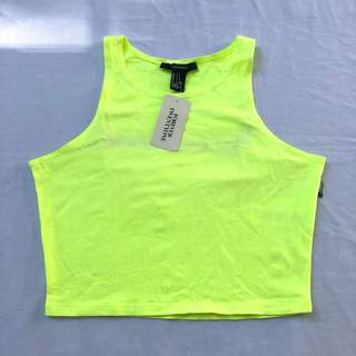 Neon Yellow Cropped Top
