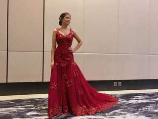Maroon sparkly gown for RENT