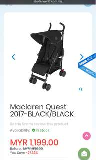 Maclaren Quest vers. 2017 NEW SET!
