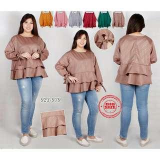 Alodi blouse atasan susun big size