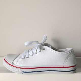 Boohoo White Canvas Sneakers
