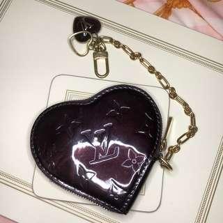 Lv coin purse 酒紅色