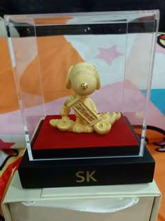 Snoppy Gold Plated Figurine