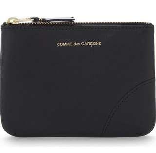 100% 全新 Comme des Garcons 黑色卡片銀包