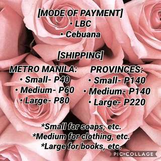 ✨ SHIPPING RATES ✨