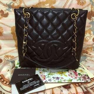 Chanel PST Bag 牛皮金扣