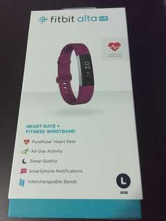 Fitbit Alta HR Fitness And Heart Rate Tracker Fuchsia L Size (Brand New Sealed)