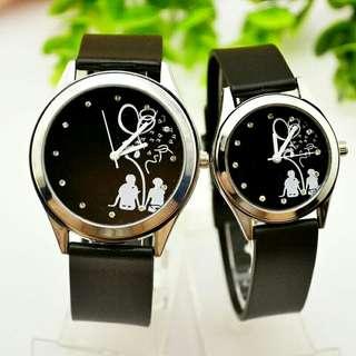 Couple Watch Quartz Wristwatch With Leather Strap