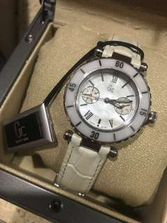 GC Diver Chic Lady Watch White Leather Strap