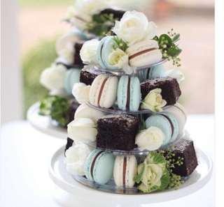 Macaron & Brownie Tower