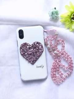 'Heart Diamond' Style iPhone X Case