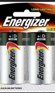 Energizer D size batteries