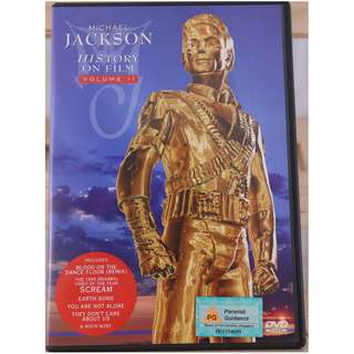 1997 Michael Jackson HIStory on Film Video (Volume II) Label: Epic Video – EVD 50138 DVD Release Date: 1997 Sony Music On DVD Video