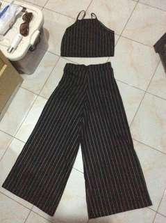 Terno ( Crop top + Square pants)
