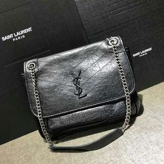 Saint Laurent Niki Bag Leather Black Color