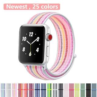 IWATCH REPLACEMENT STRAP - SPORT LOOP NYLON WOVEN WRIST BANDS