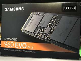 100%新 Samsung 960 EVO M.2 500GB