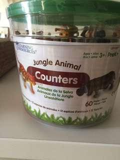 Learning Resources Jungle Animal counters (tub of 60 animals)
