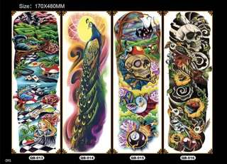 $10 each , Large Temporary Tattoos Sticker Men Arm Sleeves lelft Shoulder Fake Tattoo Body Art sticker Twinset 3d Fake Totem