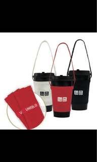 🚚 #徵求 uniqlo環保杯套 黑色的~