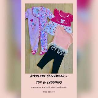 Kirkland sleepwear + top & leggings