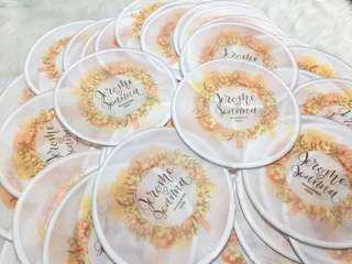 Customized Foldable Fan for Wedding ❤️