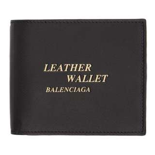 (For Order)Balenciaga Black 'Leather Wallet' Wallet