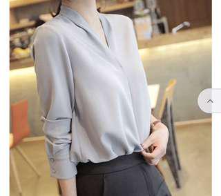 Brand new w/tag Chiffon V neck blouse